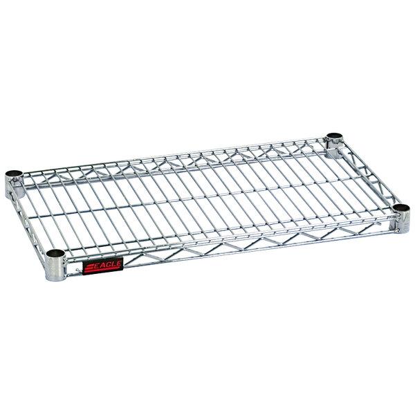 "Eagle Group QA1424Z Quad-Adjust® Eaglebrite® NSF Zinc 14"" x 24"" Wire Shelf Main Image 1"