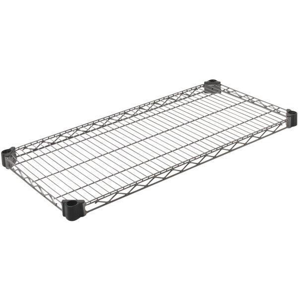 "Eagle Group QA1836V Quad-Adjust® Valu-Master® NSF Gray Epoxy 18"" x 36"" Wire Shelf Main Image 1"