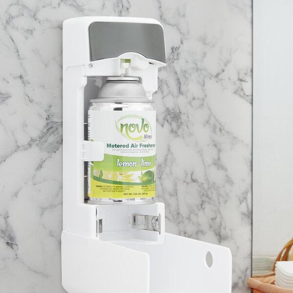 Noble Chemical Novo 7.25 oz. Lemon-Lime Metered Air Freshener Refill - 12/Case Main Image 2