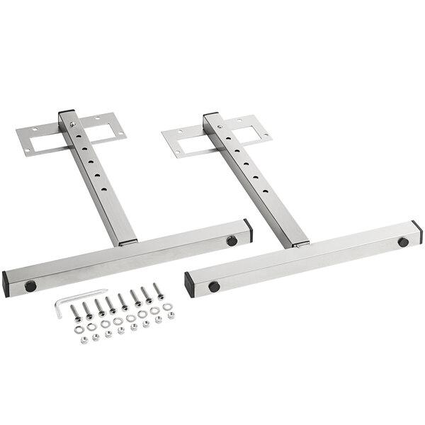 "ServIt SW-LEGS 10-16"" Adjustable Stainless Steel T-Legs for Strip Warmers - 2/Set Main Image 1"