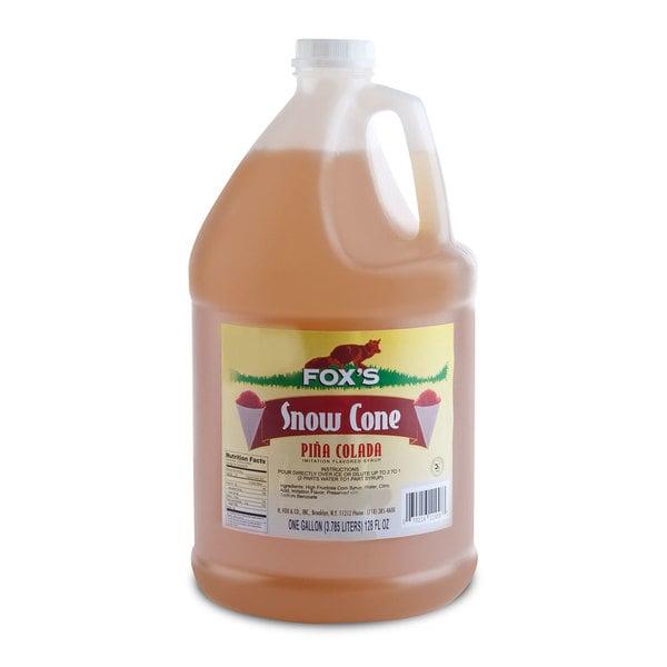 Fox's Pina Colada Snow Cone Syrup 1 Gallon