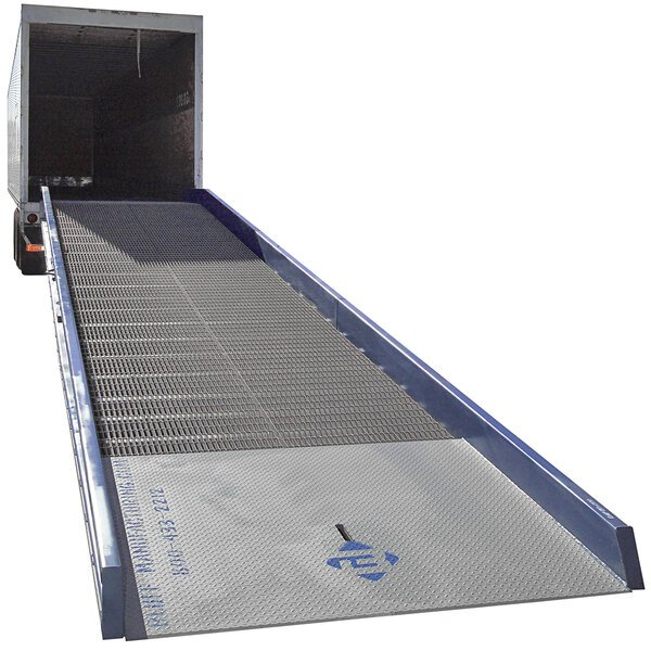 """Bluff Manufacturing 30SYS8436L SYS Series 84"""" x 36' Steel Yard Ramp - 30,000 lb. Capacity Main Image 1"""