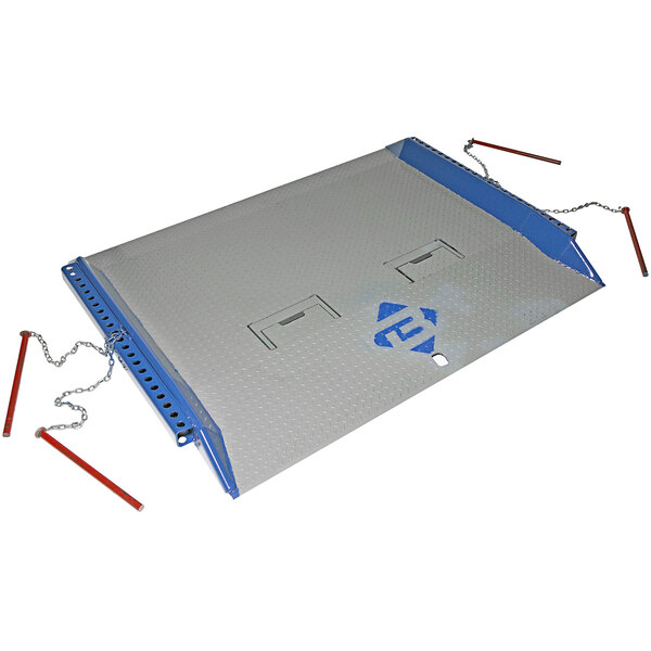 """Bluff Manufacturing 20C7284 C Series 72"""" x 84"""" Steel Dock Board with Locking Red Pins - 20,000 lb. Capacity Main Image 1"""