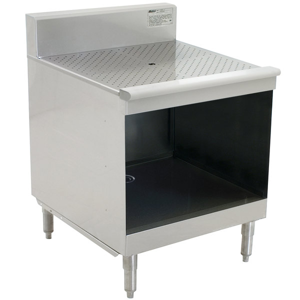 """Eagle Group WBGR24-18 1800 Series 24"""" Modular Glass Rack Storage Unit with Recessed Worktop"""