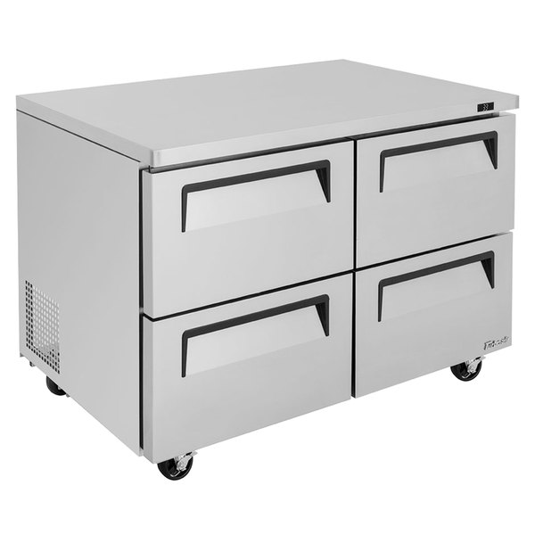 """Turbo Air TUR-48SD-D4-N Super Deluxe 48"""" Undercounter Refrigerator with Four Drawers"""