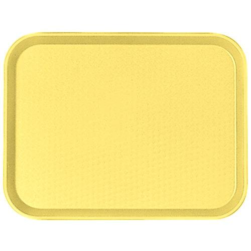 "Cambro 1014FF108 10"" x 14"" Primrose Yellow Customizable Fast Food Tray - 24/Case"