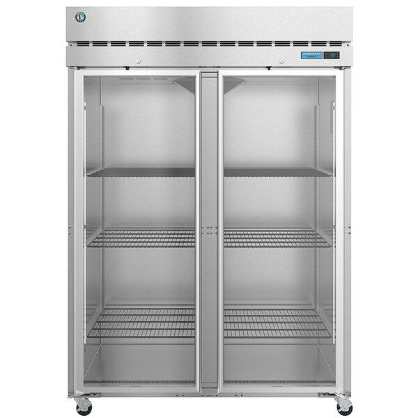 """Hoshizaki PT2A-FG-FG 55"""" Full Glass Door Pass-Through Refrigerator Main Image 1"""