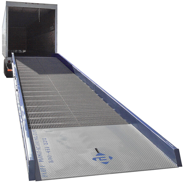"Bluff Manufacturing 20SYS7036L SYS Series 70"" x 36' Steel Yard Ramp - 20,000 lb. Capacity Main Image 1"