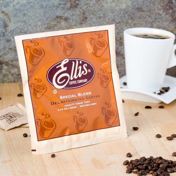 Ellis 0.5 oz. Decaf Room Service Coffee Packet - 150/Case