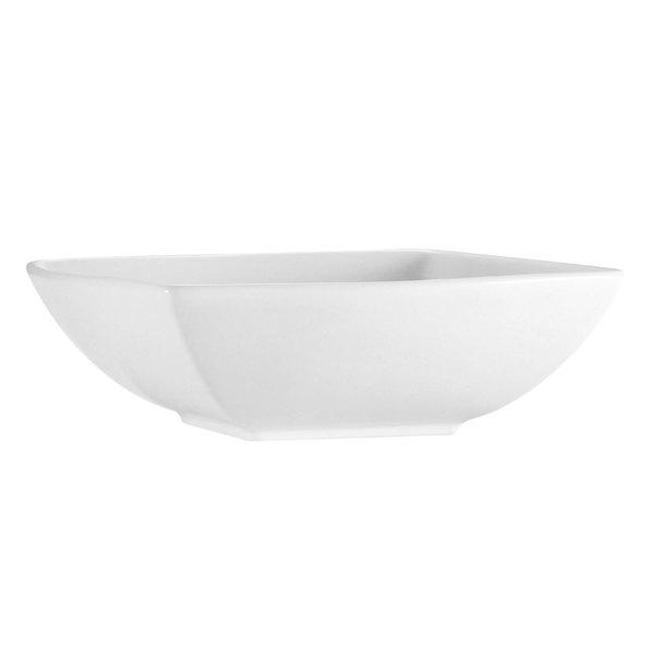 CAC PNS-B4 Princesquare 6 oz. Bright White Square Porcelain Bowl - 48/Case Main Image 1