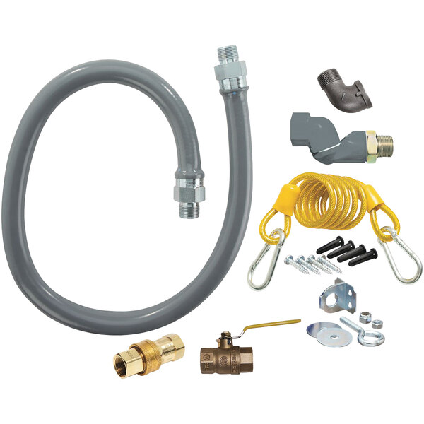 """Dormont RG100S48 ReliaGuard 48"""" Gas Connector Kit with SwivelGuard and Snap Quick-Disconnect - 1"""" Diameter Main Image 1"""