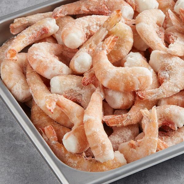 Texas Gold 5 lb. 26/30 Size Wild Caught Raw Brown Gulf Shrimp - 4/Case