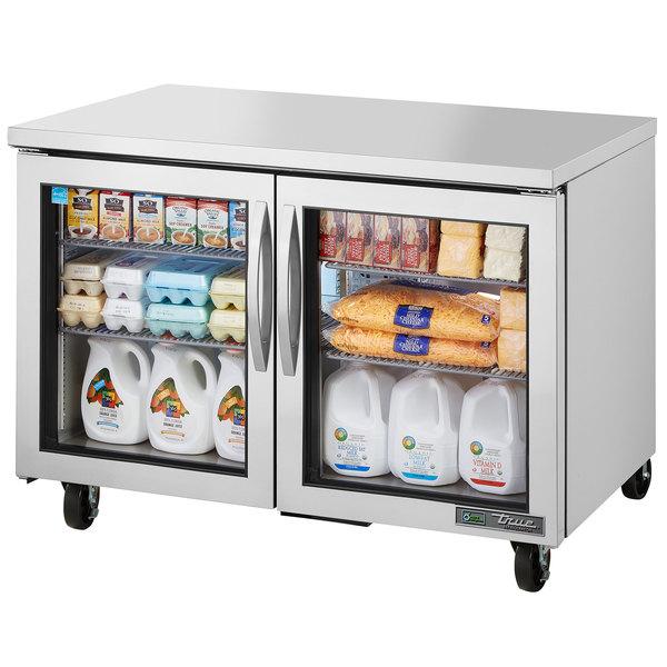 "True TUC-48G-HC~FGD01 48"" Undercounter Refrigerator with Glass Doors"