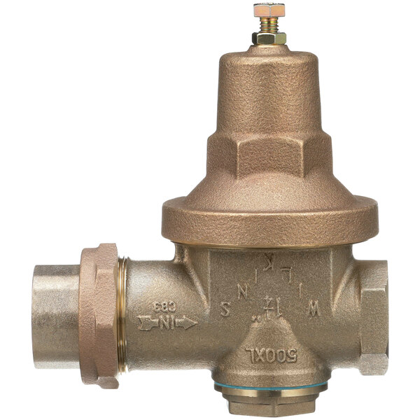 """Zurn 114-500XL 1 1/4"""" Single Union Water Pressure Reducing Valve with Integral By-Pass Check Valve Main Image 1"""
