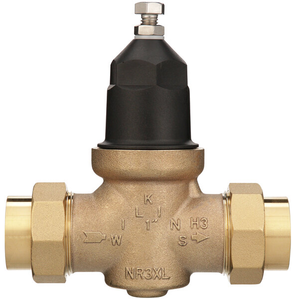 """Zurn 1-NR3XLDU 1"""" Double Union Water Pressure Reducing Valve with Integral By-Pass Check Valve and Strainer Main Image 1"""