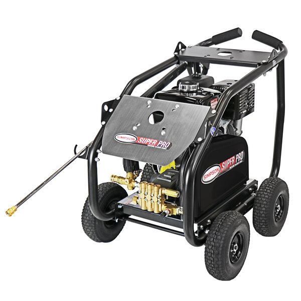 Simpson 65209 Super Pro 49-State Compliant Pressure Washer with Roll Cage, Honda Belt-Driven Engine, and 50' Hose - 4200 PSI; 4 GPM Main Image 1