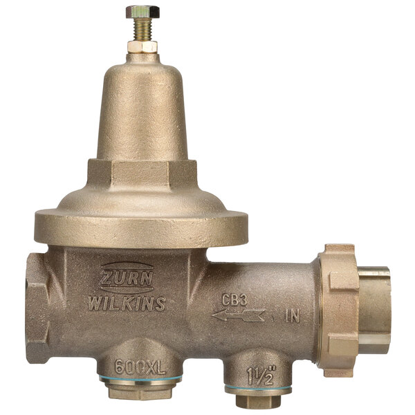 """Zurn 112-600XL 1 1/2"""" Single Union Water Pressure Reducing Valve with Integral By-pass Check Valve and Strainer Main Image 1"""