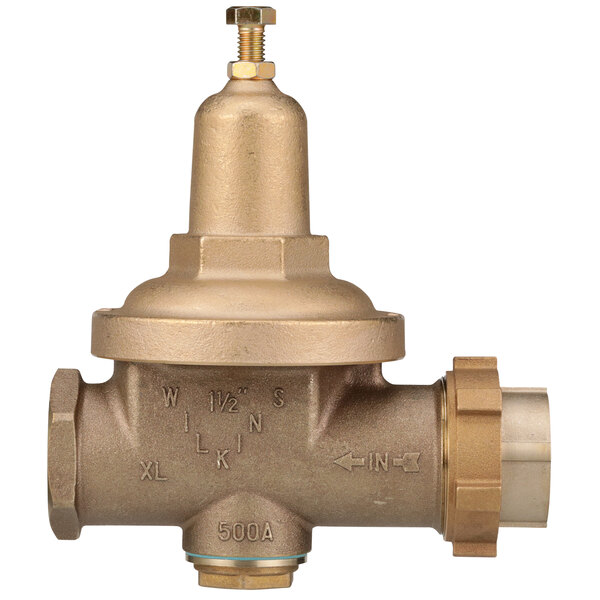 """Zurn 112-500XL 1 1/2"""" Single Union Water Pressure Reducing Valve with Integral By-pass Check Valve Main Image 1"""
