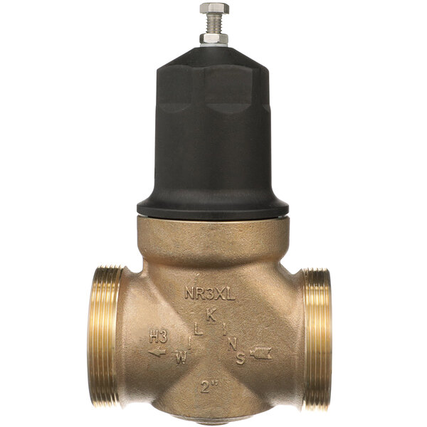 """Zurn 2-NR3XLDUC 2"""" Double Union Copper Sweat Connection Water Pressure Reducing Valve with Integral By-Pass Check Valve and Strainer Main Image 1"""