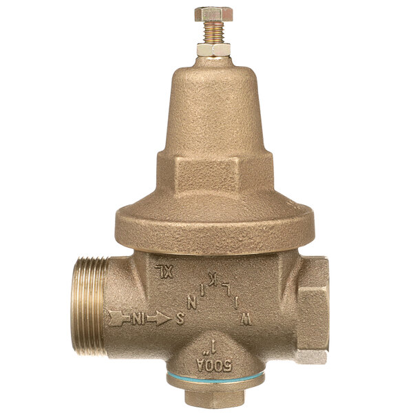"""Zurn 1-500XL 1"""" Single Union Water Pressure Reducing Valve with Integral By-Pass Check Valve Main Image 1"""