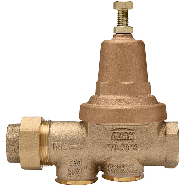 """Zurn 34-625XL 3/4"""" Single Union Water Pressure Reducing Valve with Integral By-Pass Check Valve and Strainer Main Image 1"""