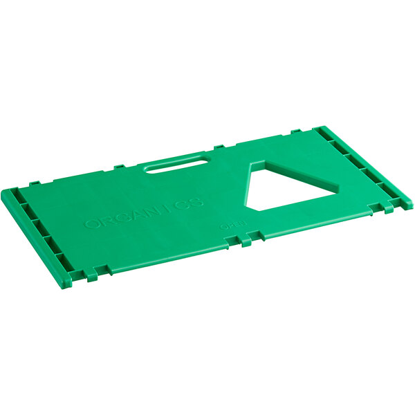 Cerobin 45 Gallon Green Rectangular Interchangeable Compost Receptacle Lid with Open Top and Handle Main Image 1