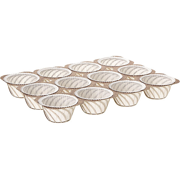 Novacart G9F12503F7 NTS-2 12 Cup 2 oz. Paper Muffin Tray - 180/Case Main Image 1