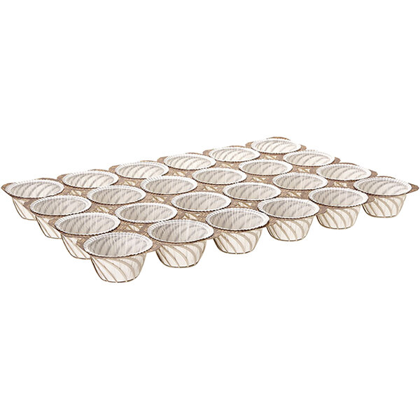 Novacart G9F12502F7 NTS-2 24 Cup 2 oz. Paper Muffin Tray - 90/Case Main Image 1