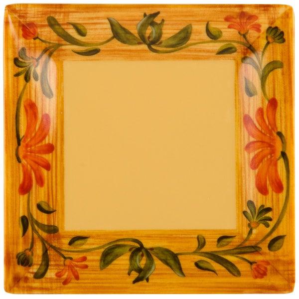 "GET ML-102-VN Venetian 6"" Square Plate - 12/Pack Main Image 1"