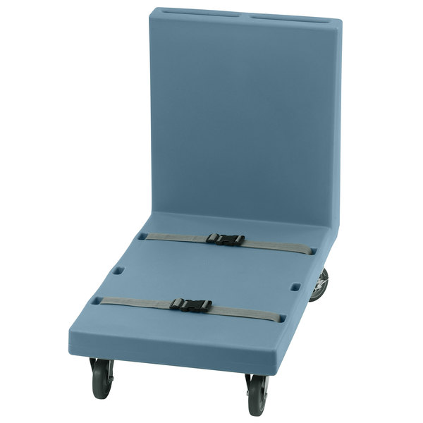 Cambro 2436UTHS401 600 lb. Slate Blue Utility Truck with Two Straps
