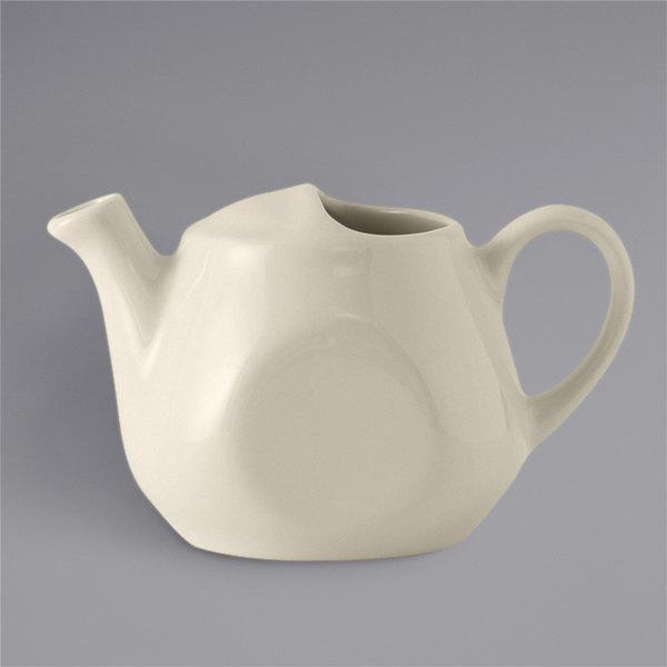 Tuxton BET-1601 DuraTux 16 oz. Eggshell China Tea Pot Without Lid - 12/Case Main Image 1