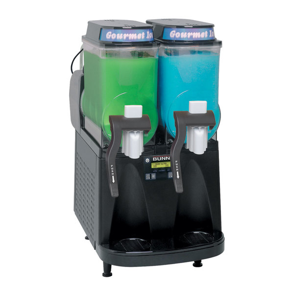 Bunn 34000.0520 Ultra-2 CFV Black Double 3 Gallon Liquid Autofill Gourmet Ice Frozen Beverage System - 120V