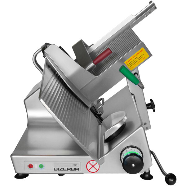 """Bizerba GSP H MAX-1 13"""" Maximum Security Manual Gravity Feed Meat Slicer with Security Fasteners - 1/2 HP, 120V Main Image 1"""