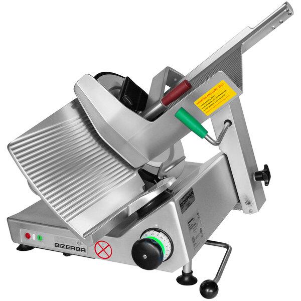 """Bizerba GSP H I 90-60HZ-220V 13"""" Manual Gravity Feed Meat Slicer - 1/2 HP; 220V Main Image 1"""