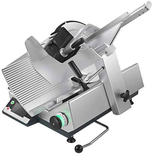 """Bizerba GSP H I W-90 13"""" Manual Gravity Feed Meat Slicer with 6.6 lb. Digital Portion Scale - 1/2 HP Main Image 1"""