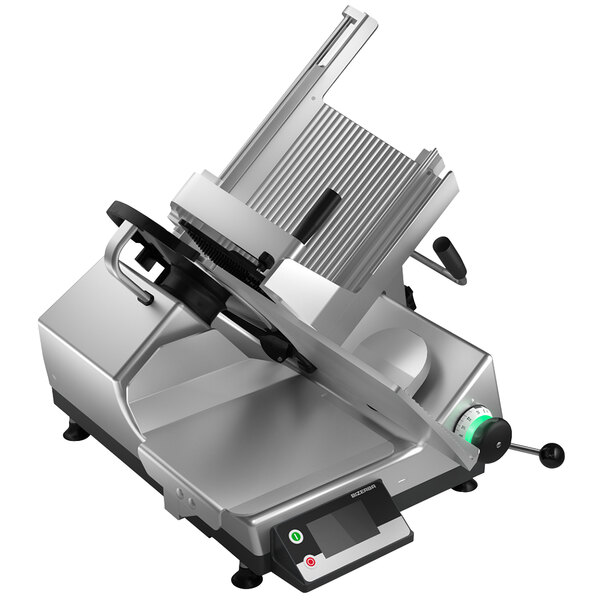 "Bizerba GSP H I W-90-GCB 13"" Manual Gravity Feed Meat and Cheese Slicer with Digital Portion Scale - 1/2 HP, 120V Main Image 1"
