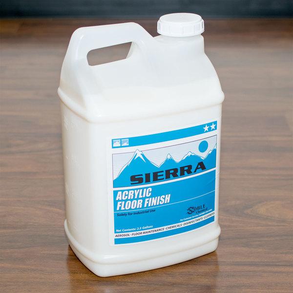 Sierra by Noble Chemical 2.5 gallon / 320 oz. Acrylic Floor Finish - 2/Case Main Image 3