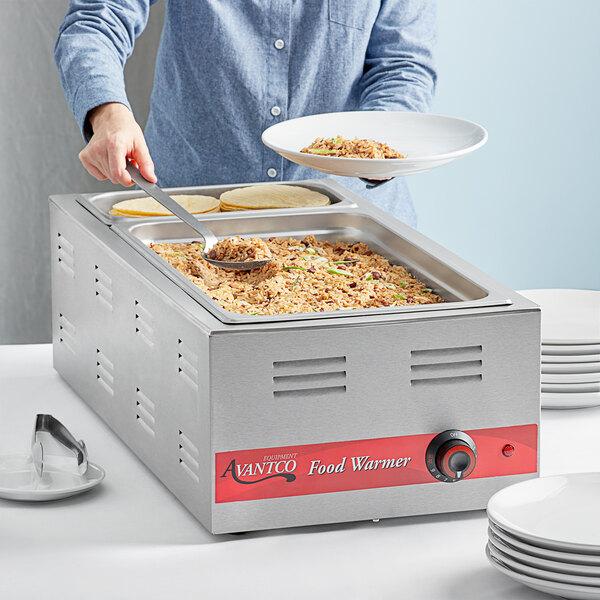 "Avantco W43 12"" x 27"" 4/3 Size Electric Countertop Food Warmer - 120V, 1500W Main Image 3"