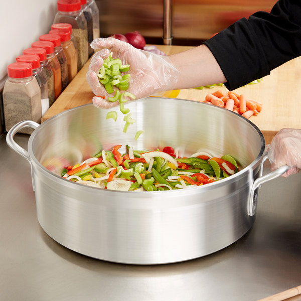 Vollrath 68218 Wear-Ever Classic Select 18 Qt. Heavy-Duty Aluminum Brazier Pan