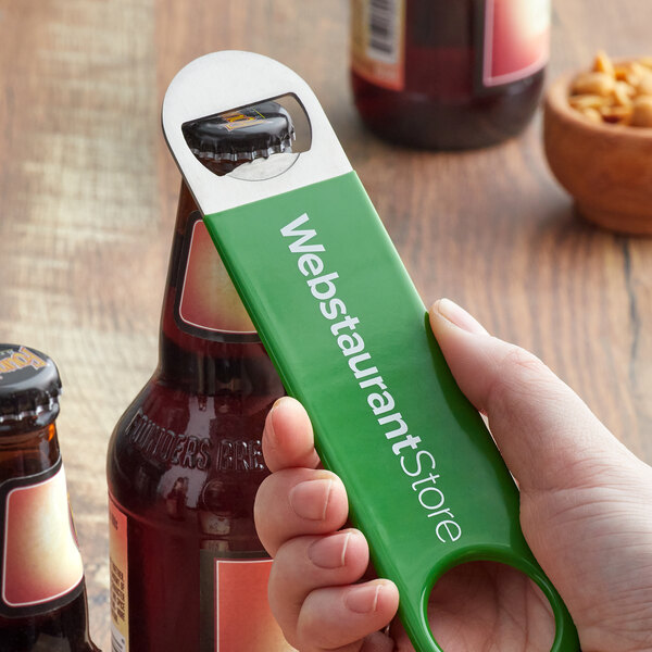 "7"" Bottle Opener with Webstaurant Logo Main Image 2"