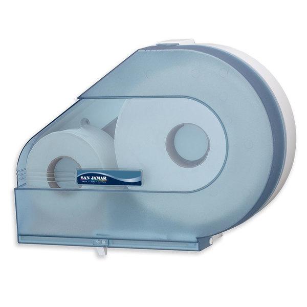 """San Jamar R6500TBL Quantum 12"""" - 13"""" Jumbo Toilet Tissue Dispenser - Arctic Blue Main Image 1"""