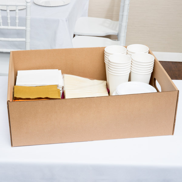 """22"""" x 16"""" x 7"""" Corrugated Catering Tray - 25/Case"""