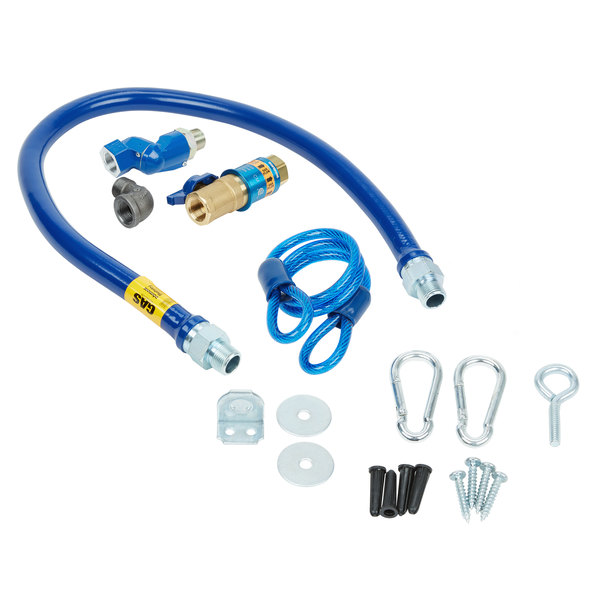 """Dormont 1675KITCFS48 Deluxe Safety Quik® 48"""" Gas Connector Kit with Swivel MAX®, Elbow, and Restraining Cable - 3/4"""" Diameter Main Image 1"""