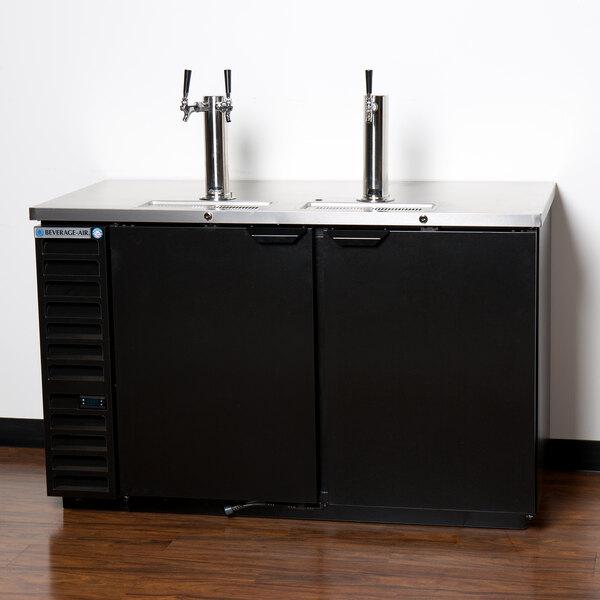 Beverage-Air DD58HC-1-B-072 1 Double and 1 Triple Tap Kegerator Beer Dispenser with Left Side Compressor - Black, 3 (1/2) Keg Capacity Main Image 6