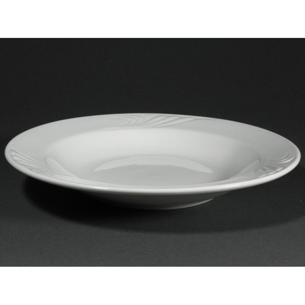 CAC RSV-3 Roosevelt 10 oz. Super White Porcelain Soup Bowl - 24/Case