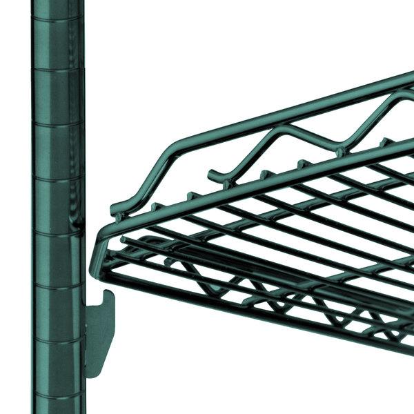 """Metro HDM2448Q-DHG qwikSLOT Drop Mat Hunter Green Wire Shelf - 24"""" x 48"""""""