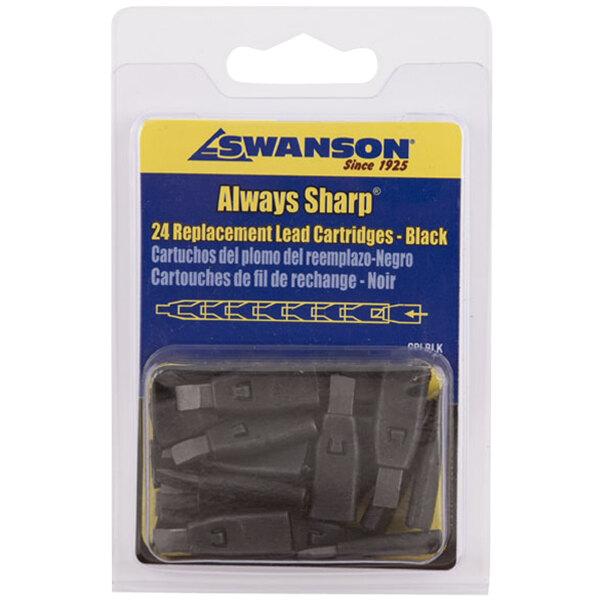 Swanson CPLBLK AlwaysSharp Black Lead Tip for Refillable Carpenter Pencils - 24/Pack Main Image 1