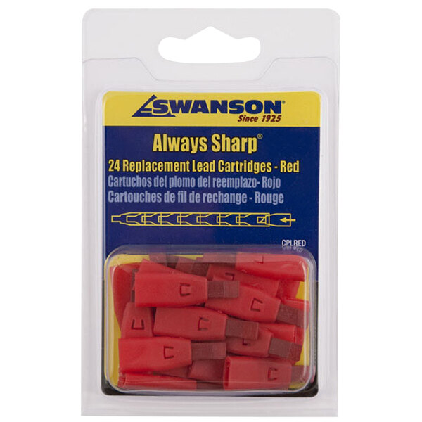 Swanson CPLRED AlwaysSharp Red Lead Tip for Refillable Carpenter Pencils - 24/Pack Main Image 1