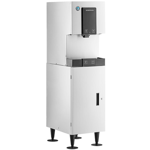 Hoshizaki DCM-271BAH Air Cooled Cubelet Ice Maker and Water Dispenser with SD-271 Stand - 257 lb. Per Day, 10 lb. Storage