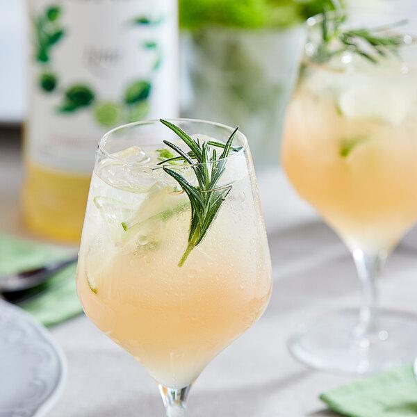 Monin 1 Liter Premium Lime Flavoring / Fruit Syrup Main Image 2